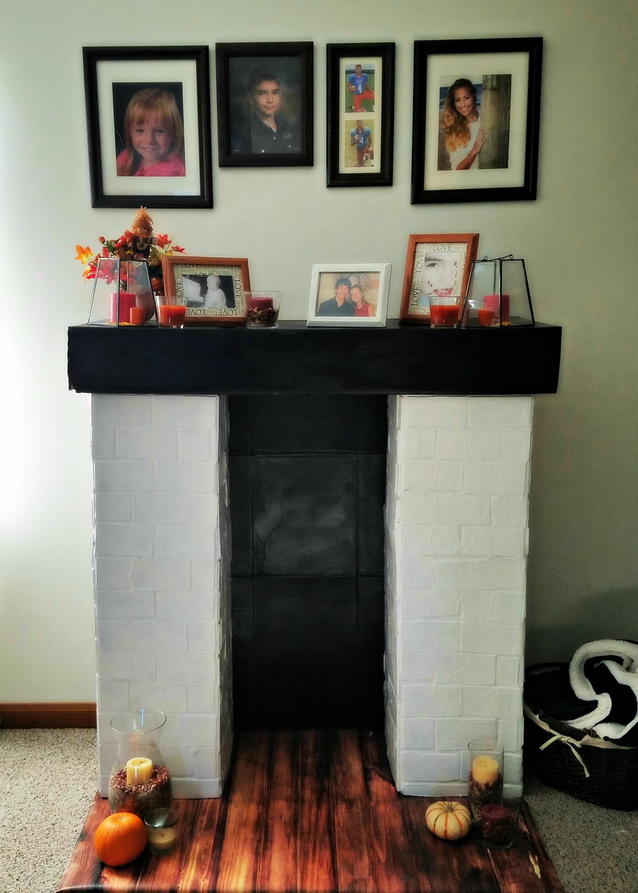 easy faux fireplace u2013 sassy pants saver